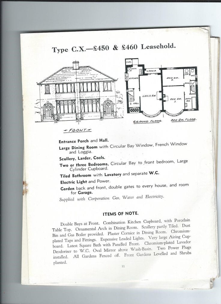 1930's Estate Agent Advert