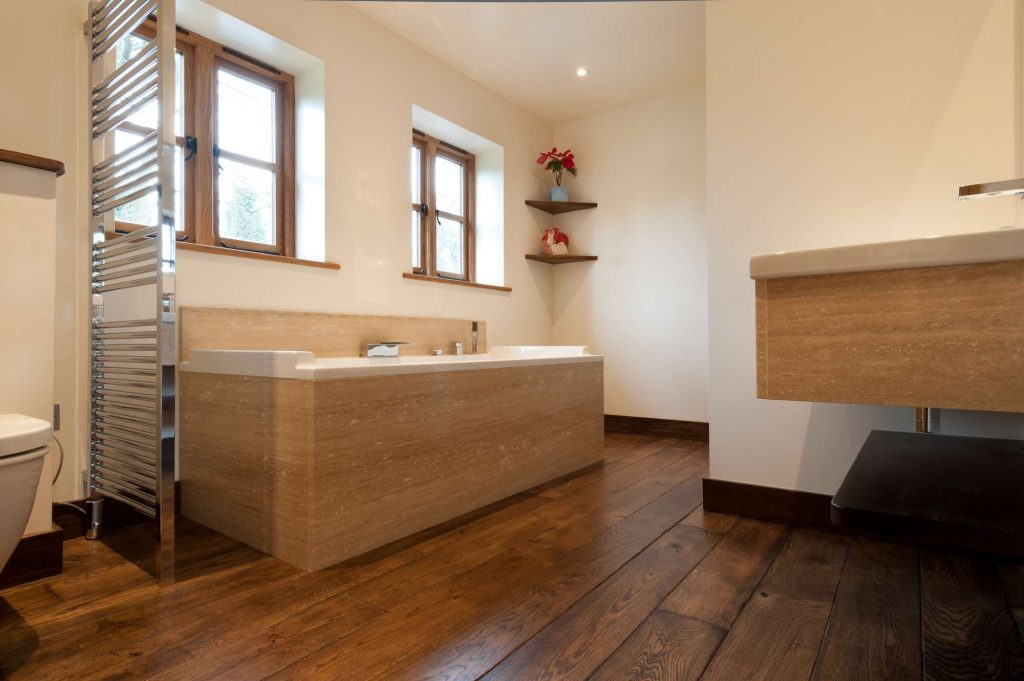 Bathroom floor wood