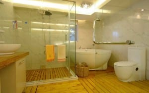 Bathroom floor design