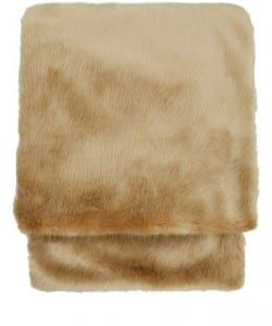 property management companies in London - Amber faux fur throw