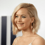 Jennifer Lawrence smiling at an awards ceremony