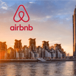 a picture of flats in london for rent showing the Airbnb logo