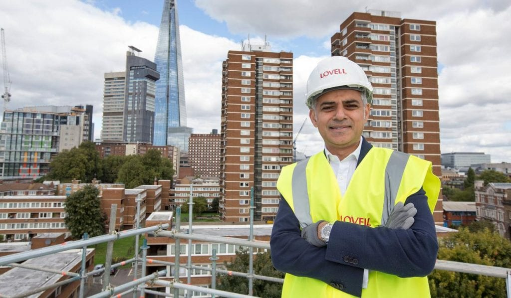 London Mayor on a development site